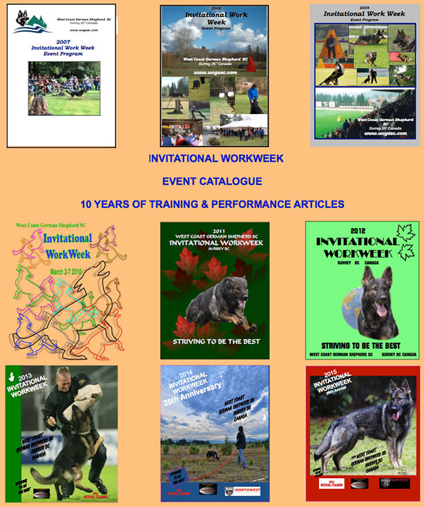 Some of our past workweek catalogue covers